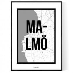 Malmö City Map Poster