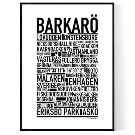 Barkarö Poster