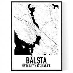 Bålsta Karta Poster