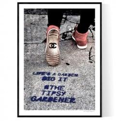 Tipsy Gardener Poster