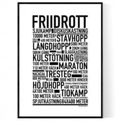 Friidrott Poster