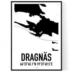 Dragnäs Karta Poster