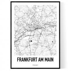 Frankfurt Karta Poster
