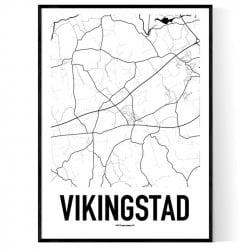 Vikingstad Karta Poster