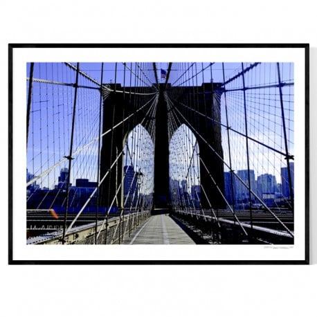brooklyn bridge fototavlor online k p new york tavla h r. Black Bedroom Furniture Sets. Home Design Ideas