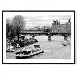 Paris A Seine Poster