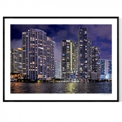 Miami By Night Poster