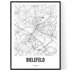 Bielefeld Karta Poster