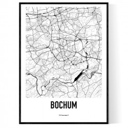 Bochum Karta Poster