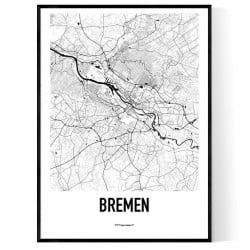 Bremen Karta Poster