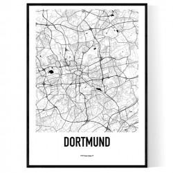Dortmund Karta Poster