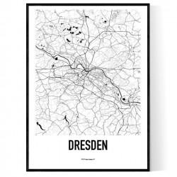 Dresden Karta Poster