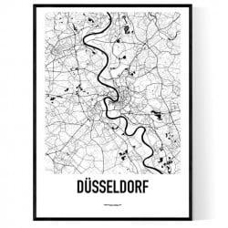 Düsseldorf Karta Poster