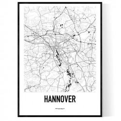 Hannover Karta Poster