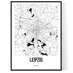 Leipzig Karta Poster