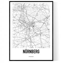 Nürnberg Karta Poster