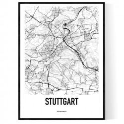 Stuttgart Karta Poster
