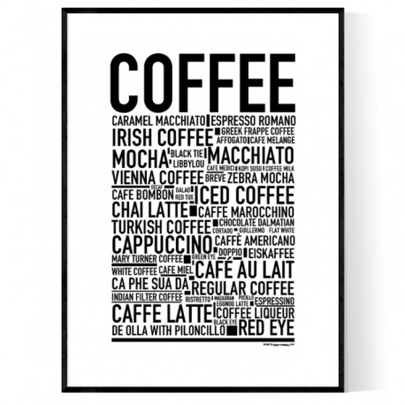 Coffee Sorts Poster
