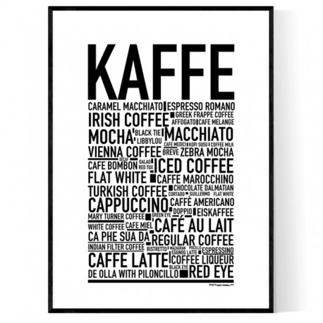 Kaffe Sorter Poster