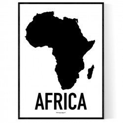 Afrika Karta Poster
