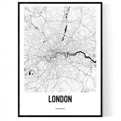 London Metro Karta Poster