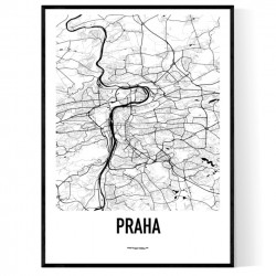 Prag Metro Karta Poster
