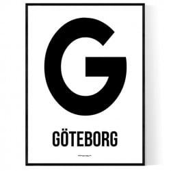 Göteborg Letter Poster