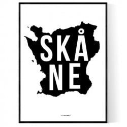 Skåne Map Poster