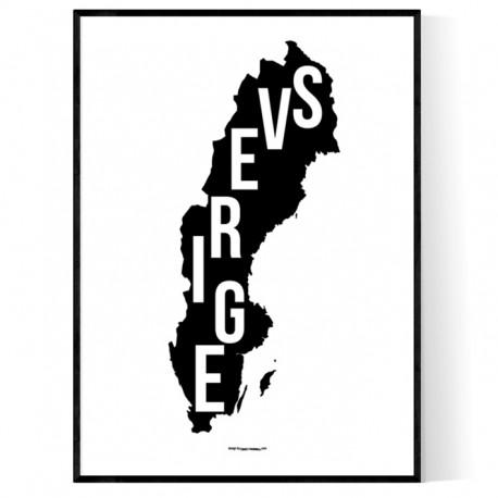 Sverige Map Poster
