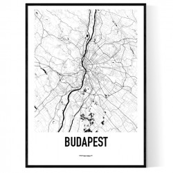 Budapest Metro Karta Poster
