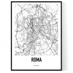 Rom Metro Karta Poster