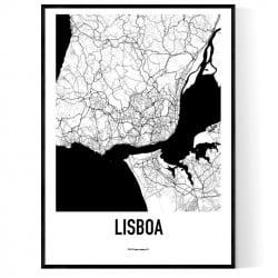 Lissabon Metro Karta Poster