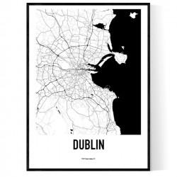 Dublin Metro Karta Poster