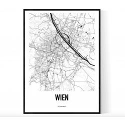 Wien Metro Karta Poster