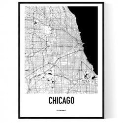 Chicago Metro Karta Poster
