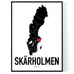 Skärholmen Heart Poster