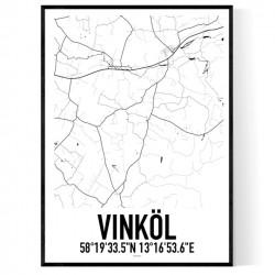 Vinköl Karta Poster