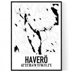 Haverö Karta Poster