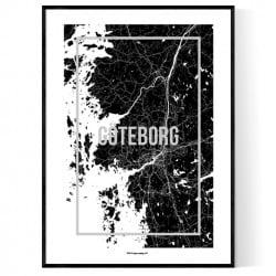 Göteborg Map Frame Poster