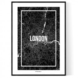 London Map Frame Poster
