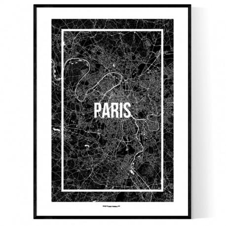 Paris Map Frame Poster