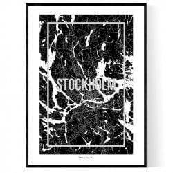 Stockholm Map Frame Poster