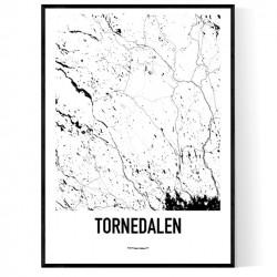 Tornedalen Karta Poster