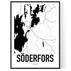 Söderfors Karta Poster