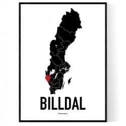 Billdal Heart Poster