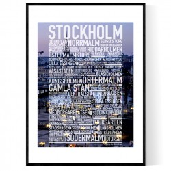 Stockholm Foto Text Poster