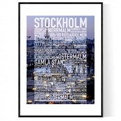 Stockholm Foto Text Poster