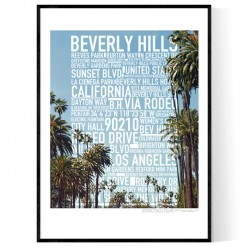 Beverly Hills Foto Text Poster