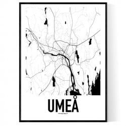 Umeå Metro Karta Poster
