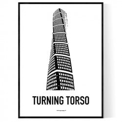 Turning Torso Draw Poster